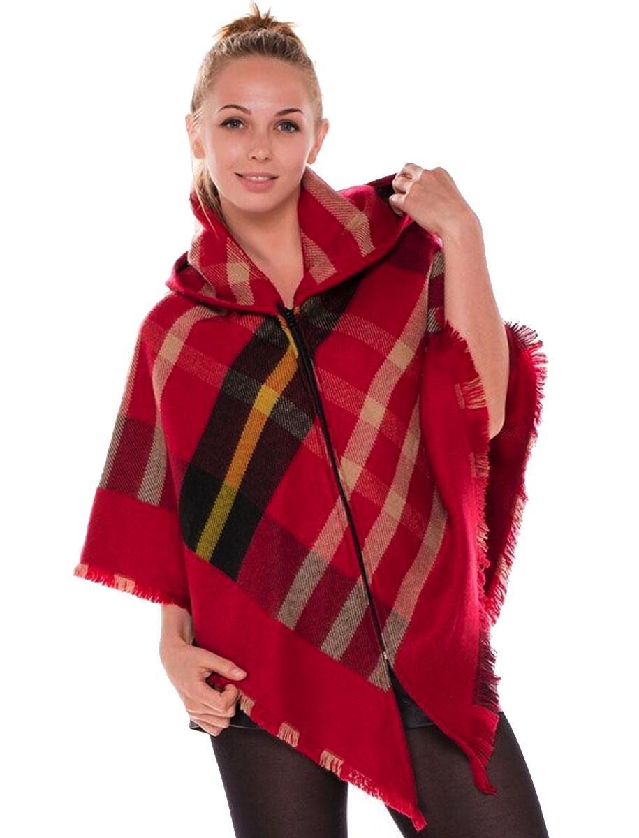 magic scarf zipper poncho with jp459