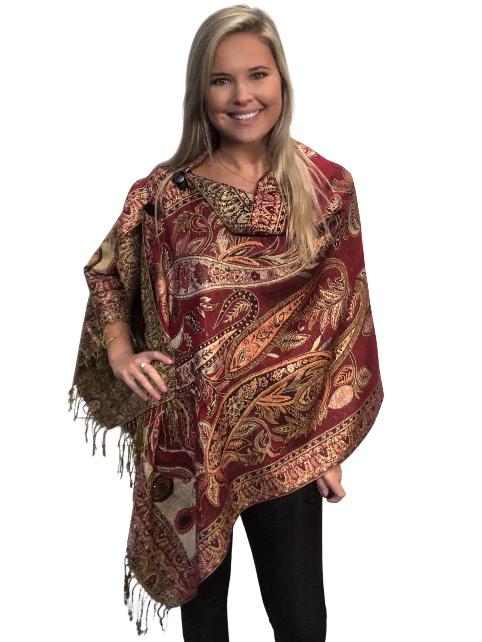 Poncho Front View