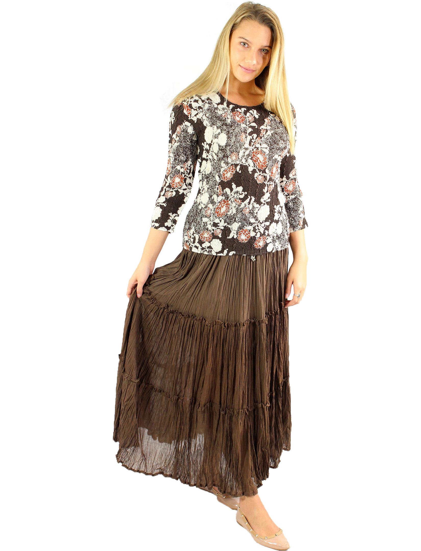wholesale Skirts - Cotton Three Tier Broomstick 500 & 529