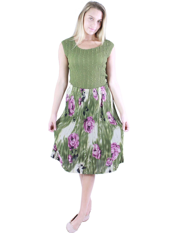 wholesale Skirts - Georgette Mini Pleat Calf Length*