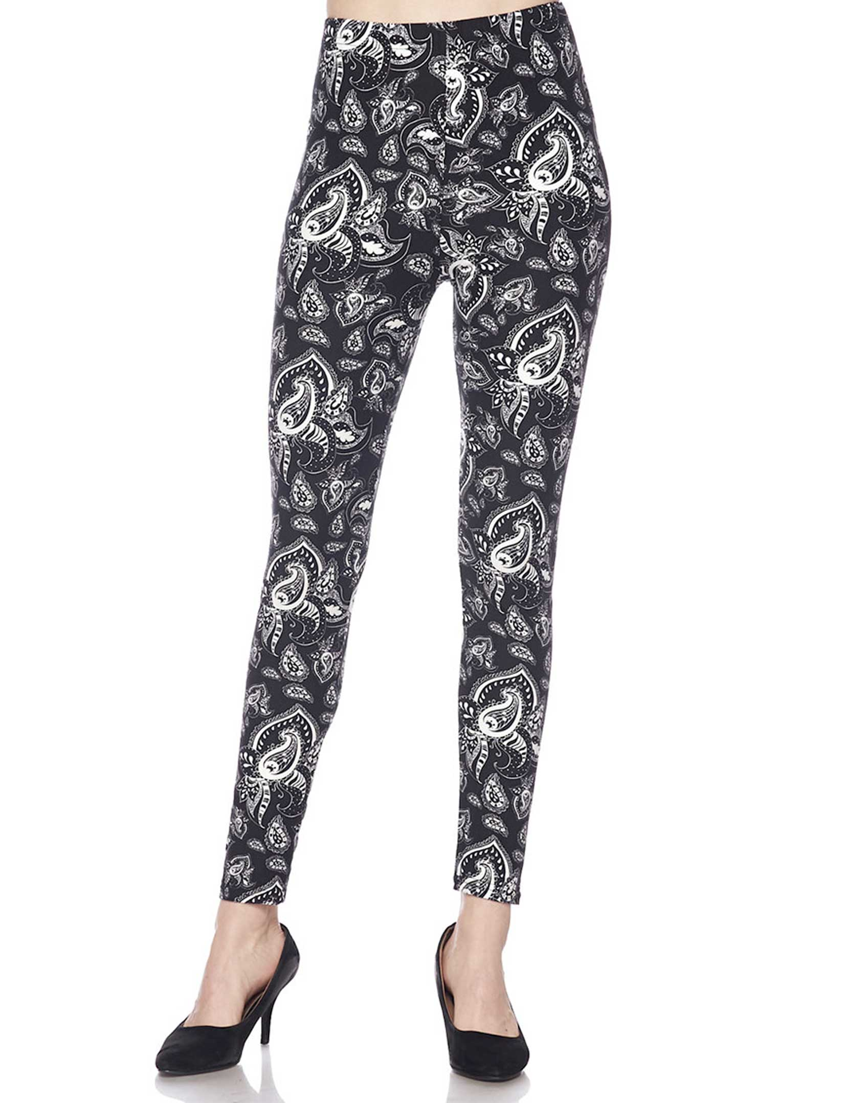Brushed Fiber Leggings - Ankle Length Prints