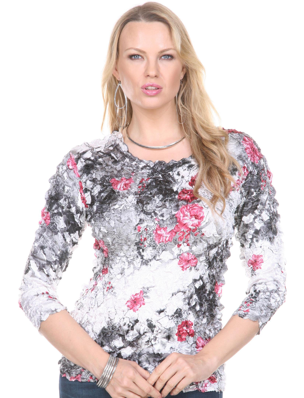wholesale Satin Petal Shirts - Three Quarter Sleeve
