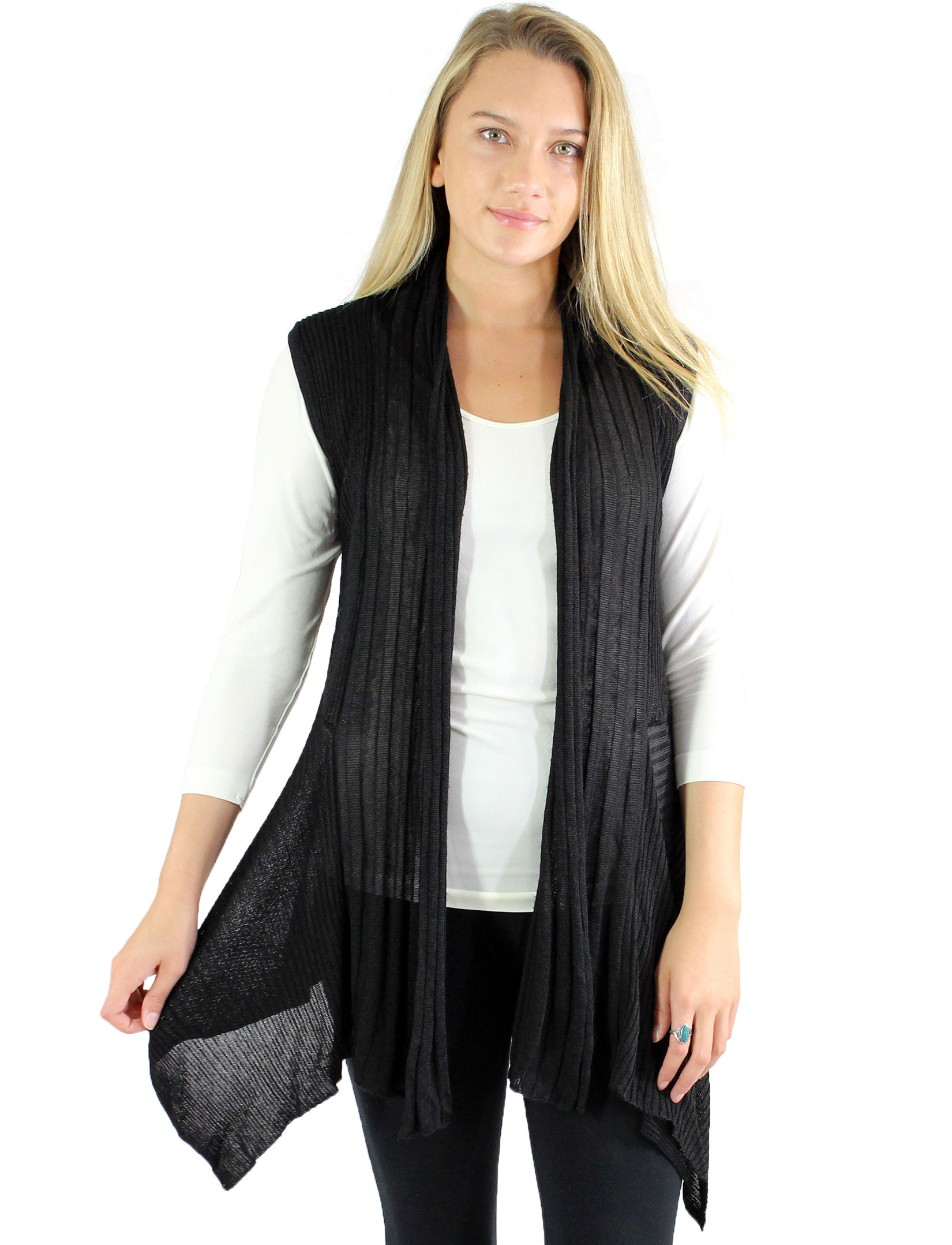 wholesale Magic Convertible Ribbed Sweater Vest
