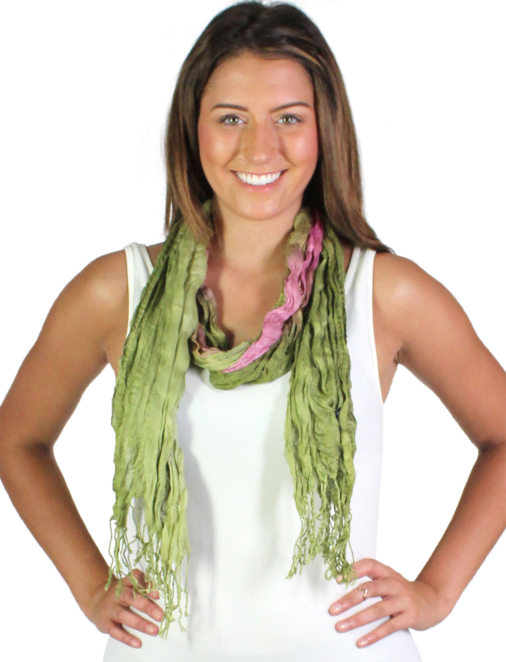 wholesale Oblong Scarves - Crinkled Watercolors 22*