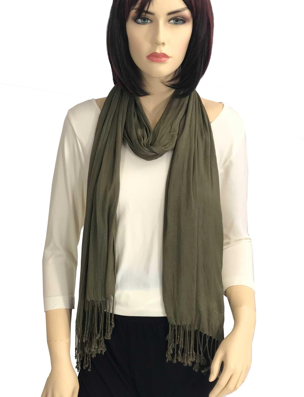 wholesale Oblong Scarves - Cotton/Silk Blend 100