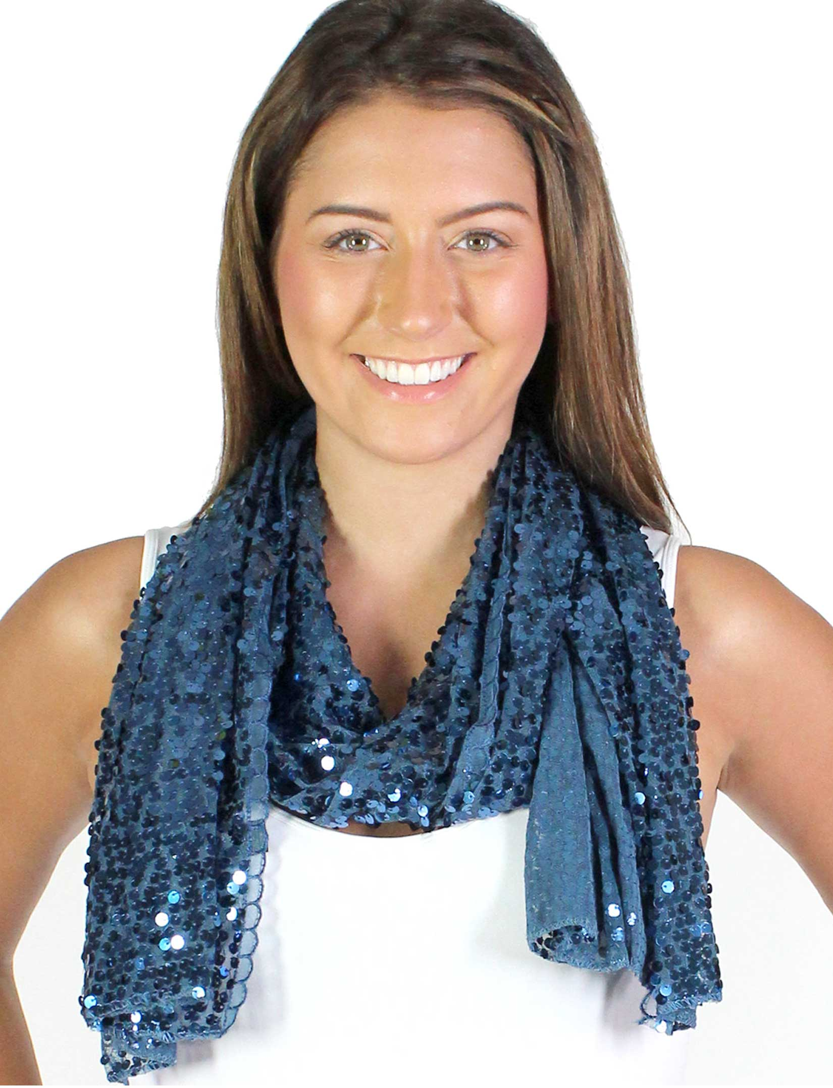 wholesale Oblong Scarves - Glitz Sequined 4120 & 4121*