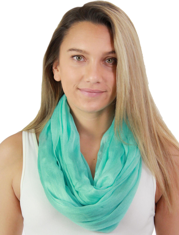wholesale Infinity Scarves - Cotton/Silk Blend 100