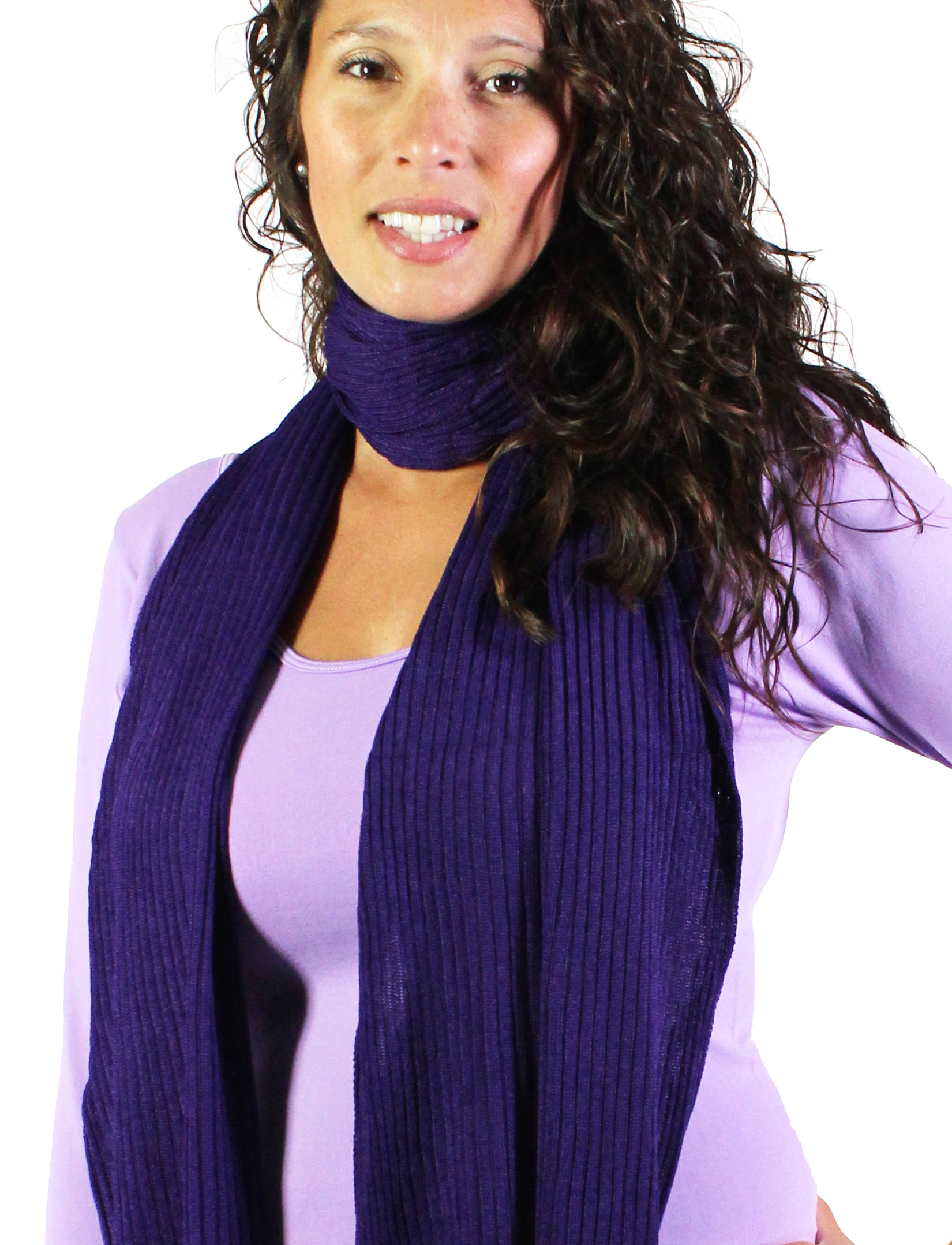 wholesale Oblong Scarves - Ribbed Sweater Knit