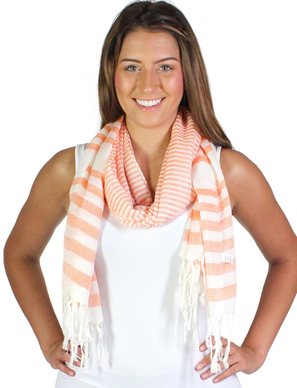 wholesale Oblong Scarves - Multi Stripe 675*