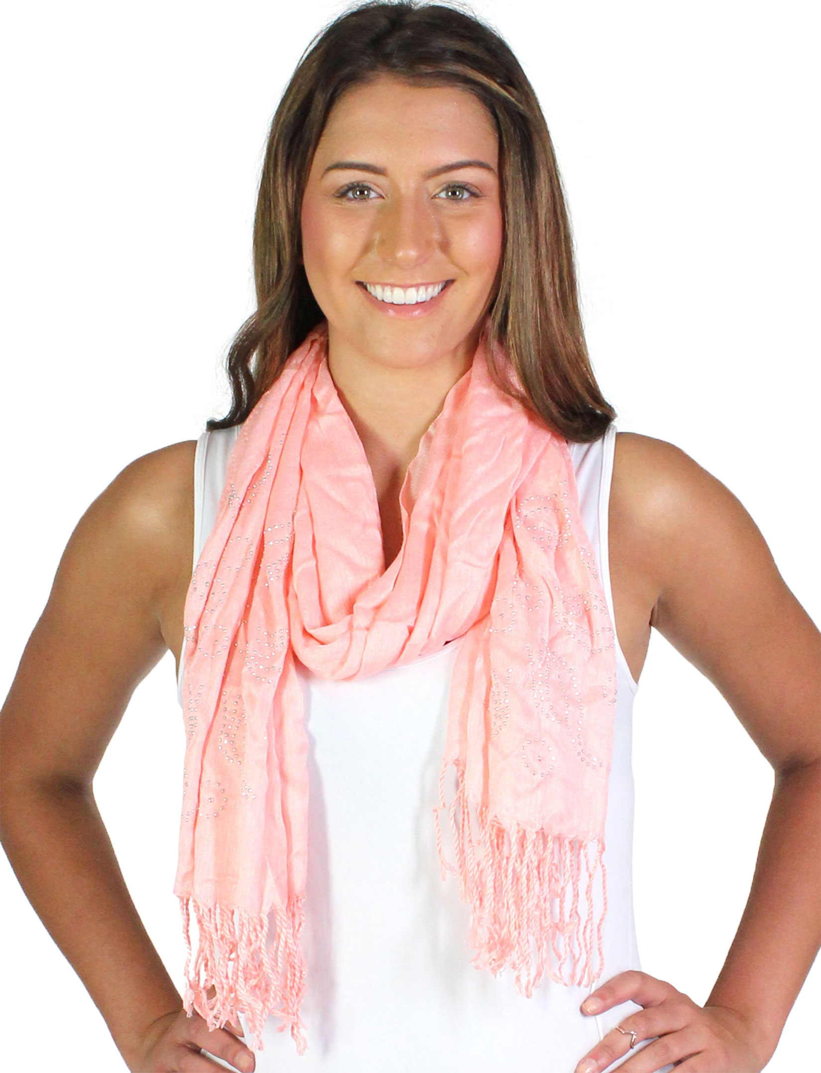wholesale Oblong Scarves - Studded Sun 3179