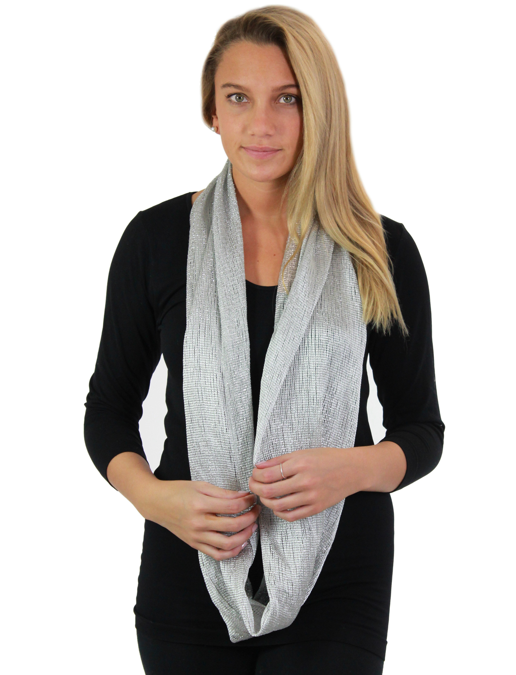 wholesale Oblong Scarves - Millionaire Metallic 147