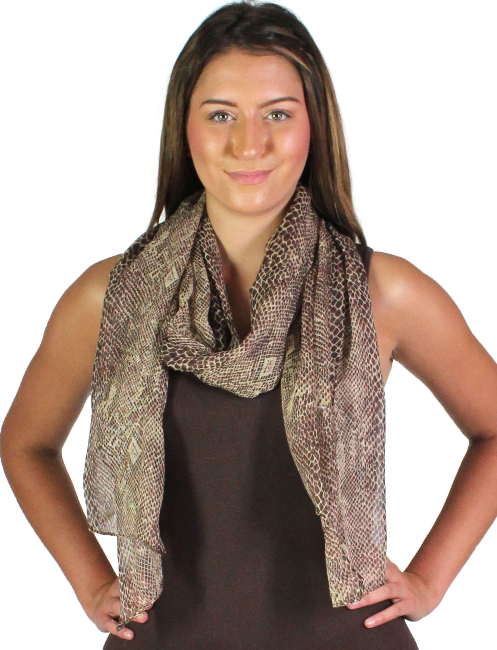wholesale Oblong Scarves - Snake Skin 4117*