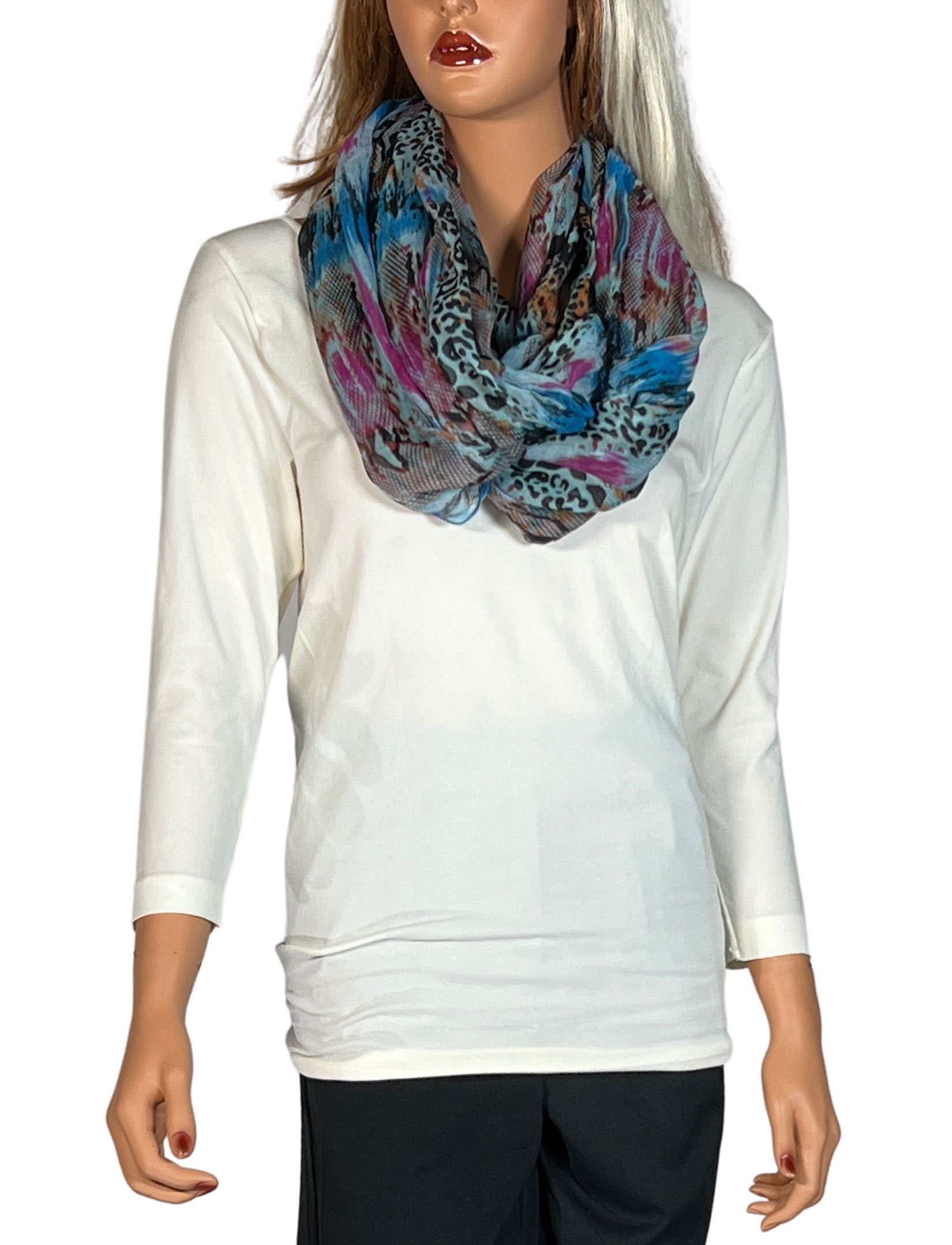 wholesale Infinity Scarves Wide - Snake Print 3062