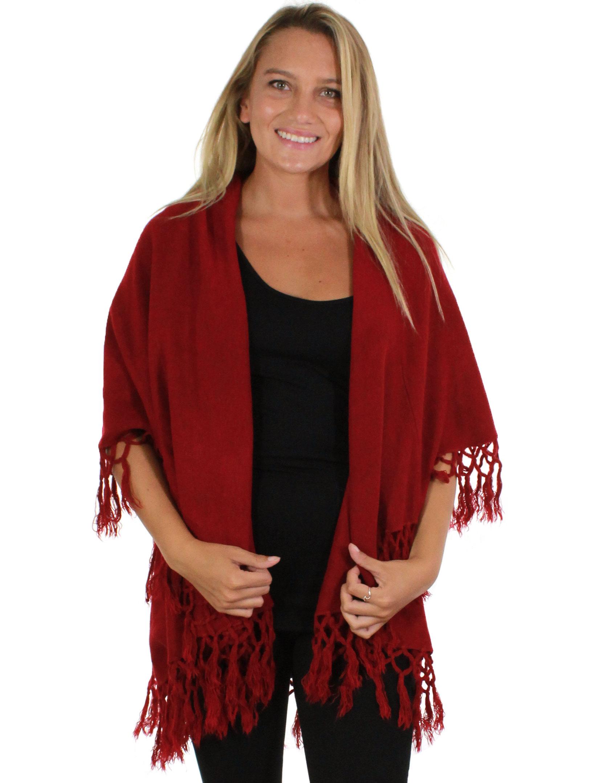 wholesale Vest/Cape - Tasseled Wool Feel 129 (Style 1)