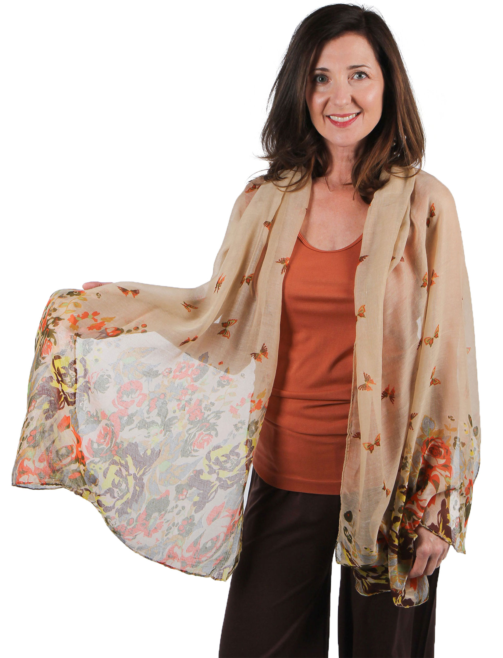 Big Scarves/Shawls - Butterfly Bottom 967*