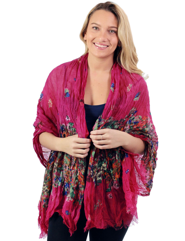 wholesale Big Scarves/Shawls - Crinkle Floral 1003*