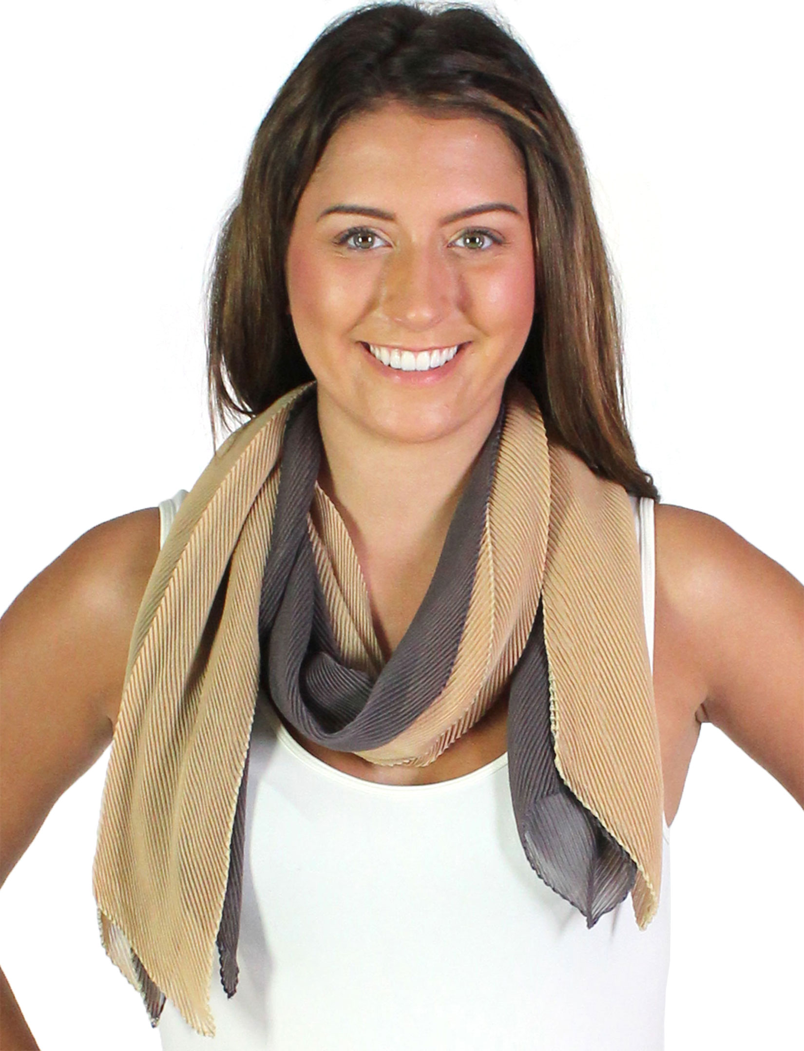 wholesale Oblong Scarves - Pleated*