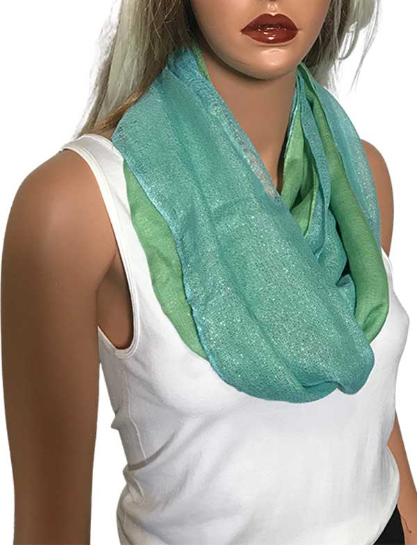 wholesale C Double Infinity Scarves - Glitter 103