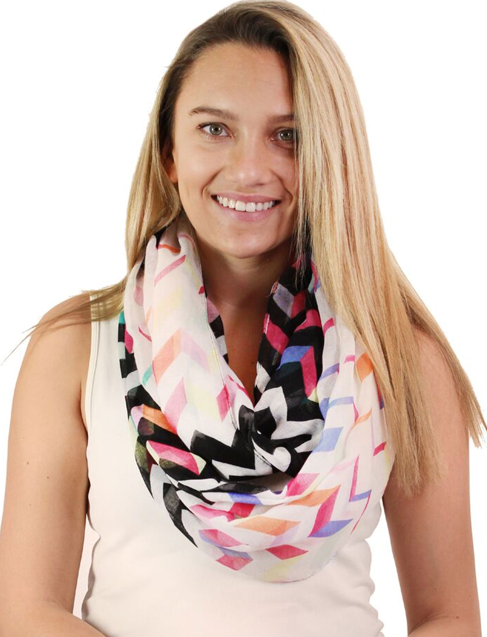 wholesale Infinity Scarves Wide - Modern Chevron 3788