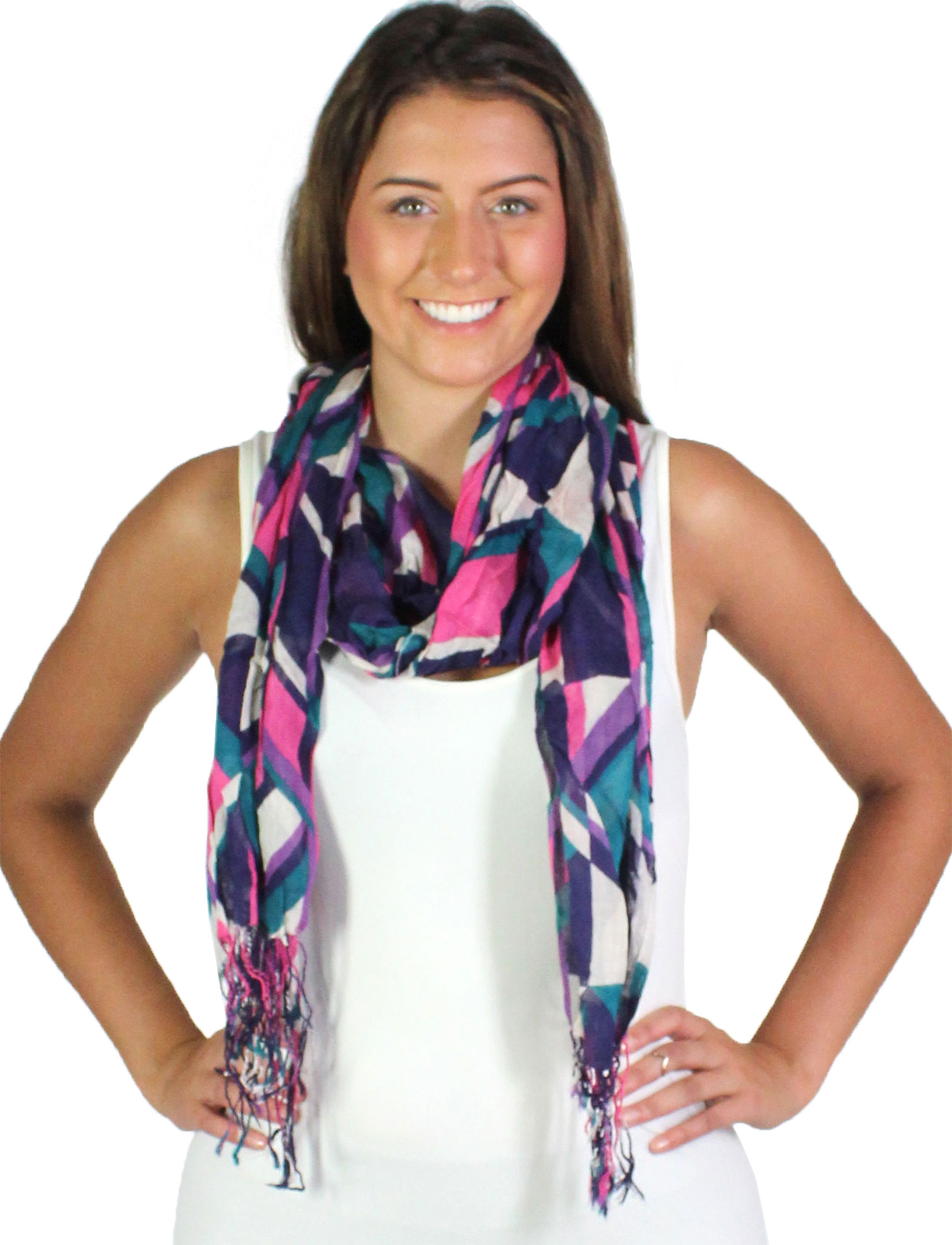 wholesale Oblong Scarves - Abstract 1023*