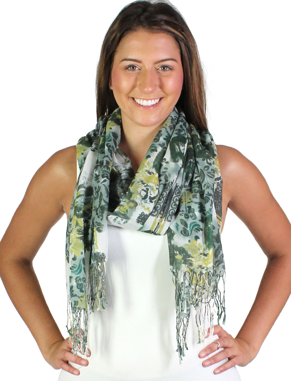 wholesale Oblong Scarves - Multi Print 1065*