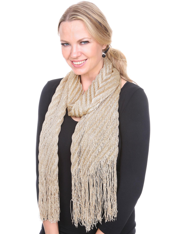 wholesale Oblong Scarves - Textured Metallic 475