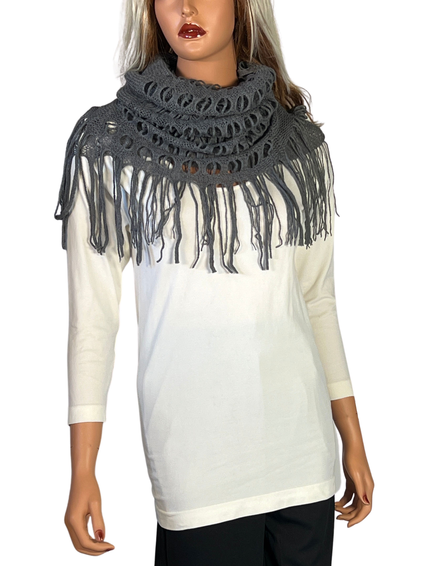 wholesale C Oblong Scarves - Long Two Way Knit Tube*