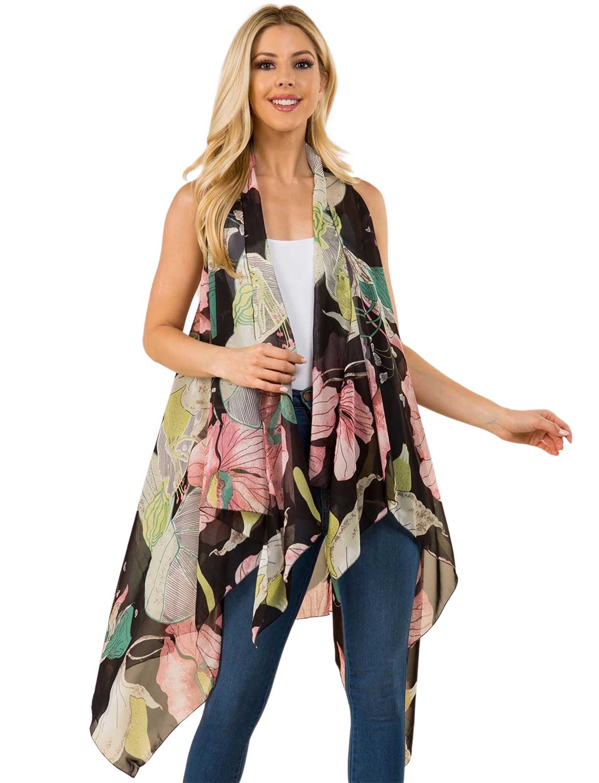 wholesale Chiffon Scarf Vests (Style 2)