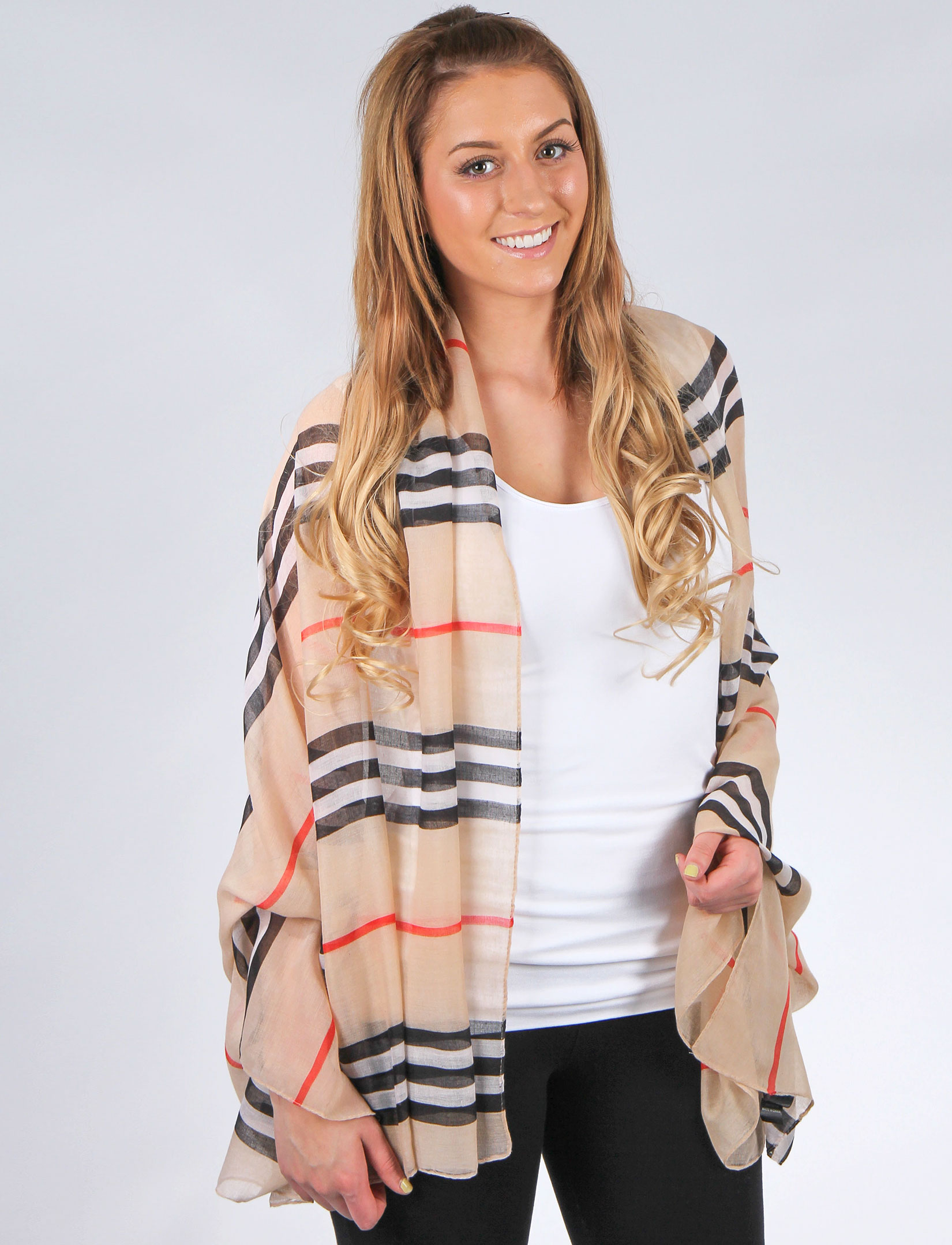 Big Scarves/Shawls - Striped 1169*