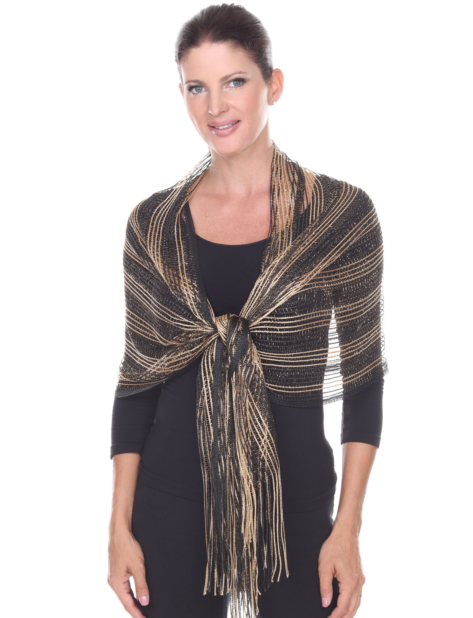 wholesale Oblong Scarves - Metallic Two Tone 249x001