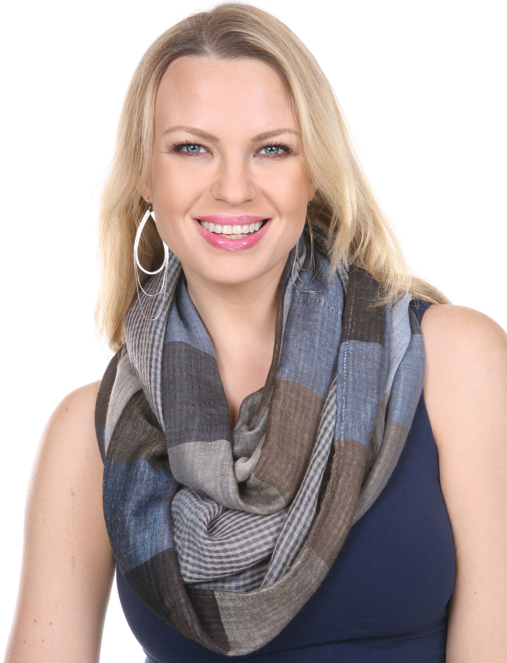 wholesale Infinity Scarves - Plaid 7339