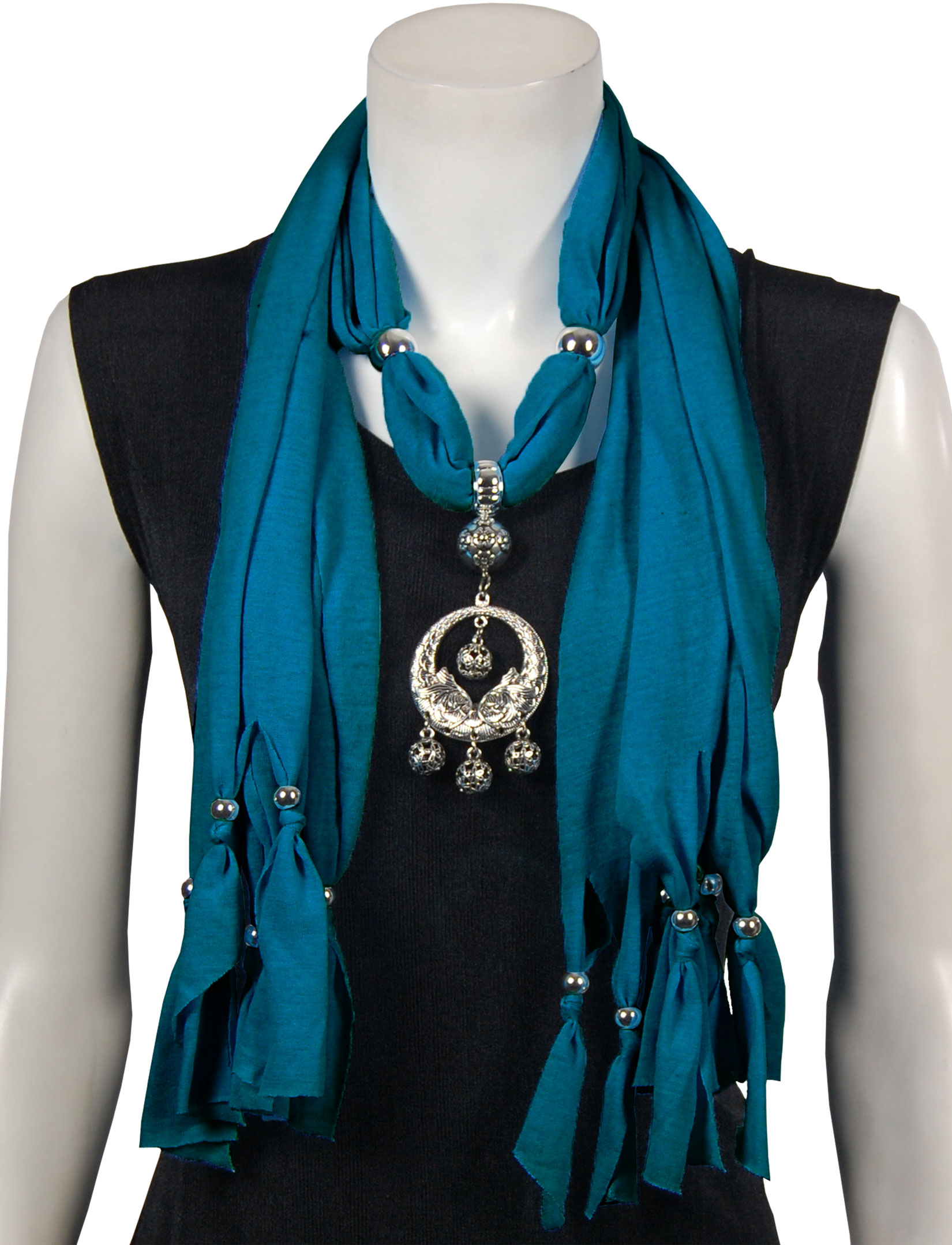 wholesale Jersey Knit Pendant Scarves