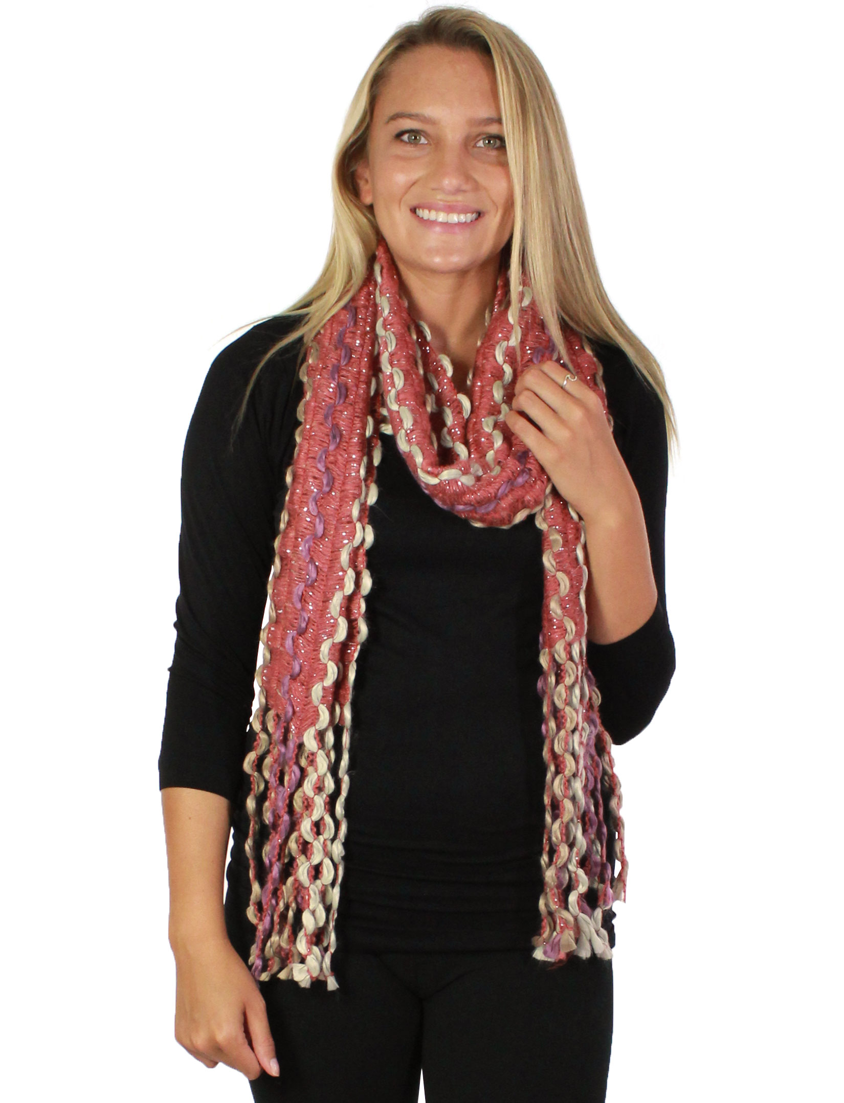 wholesale Oblong Scarves - Long Puffy Wave 2001