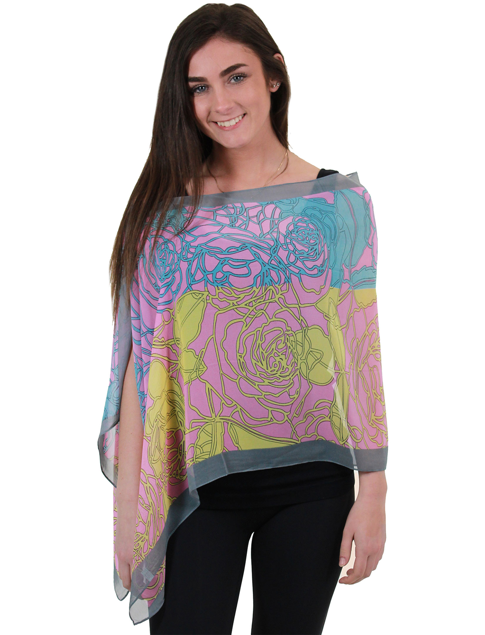 Silky Two Button Shawl <br>2451