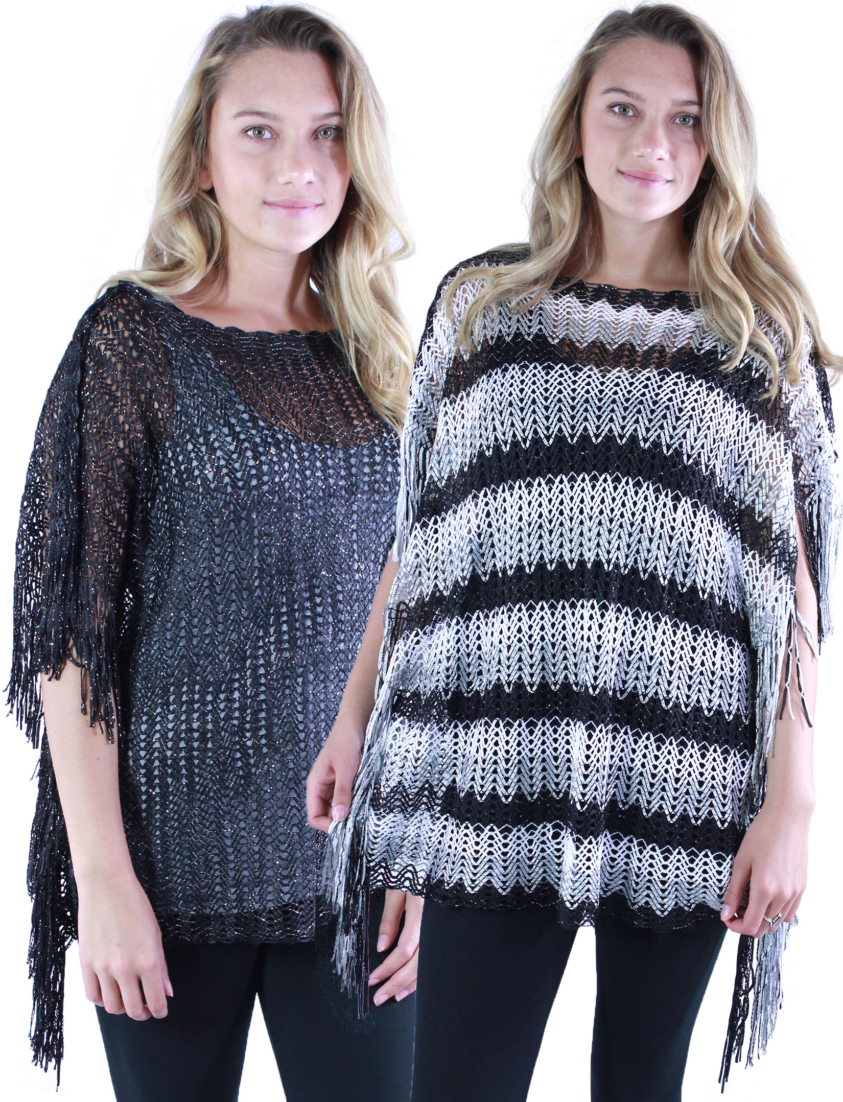 wholesale Poncho - Fishnet Metallic 6604 & 6608