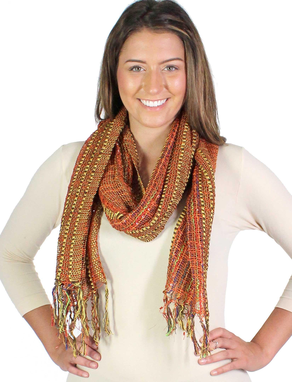 wholesale Oblong Scarves - Woven Multi Color 0165