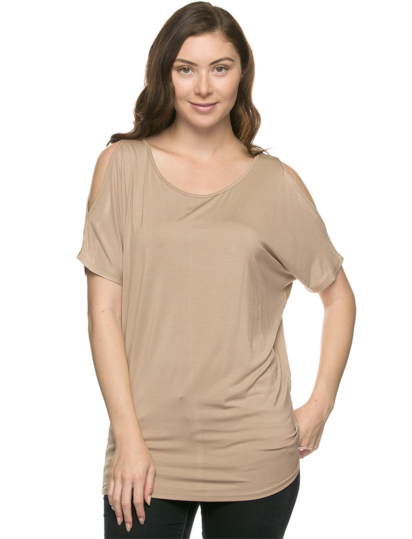 wholesale Tops - Dolman Sleeve Cold Shoulder 1373
