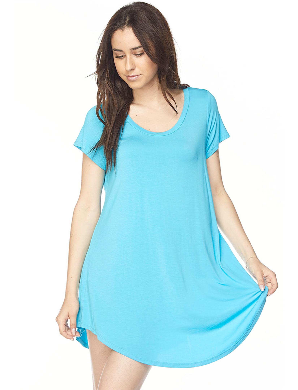 wholesale Tunics - Modal Rayon Rounded Hem 1602