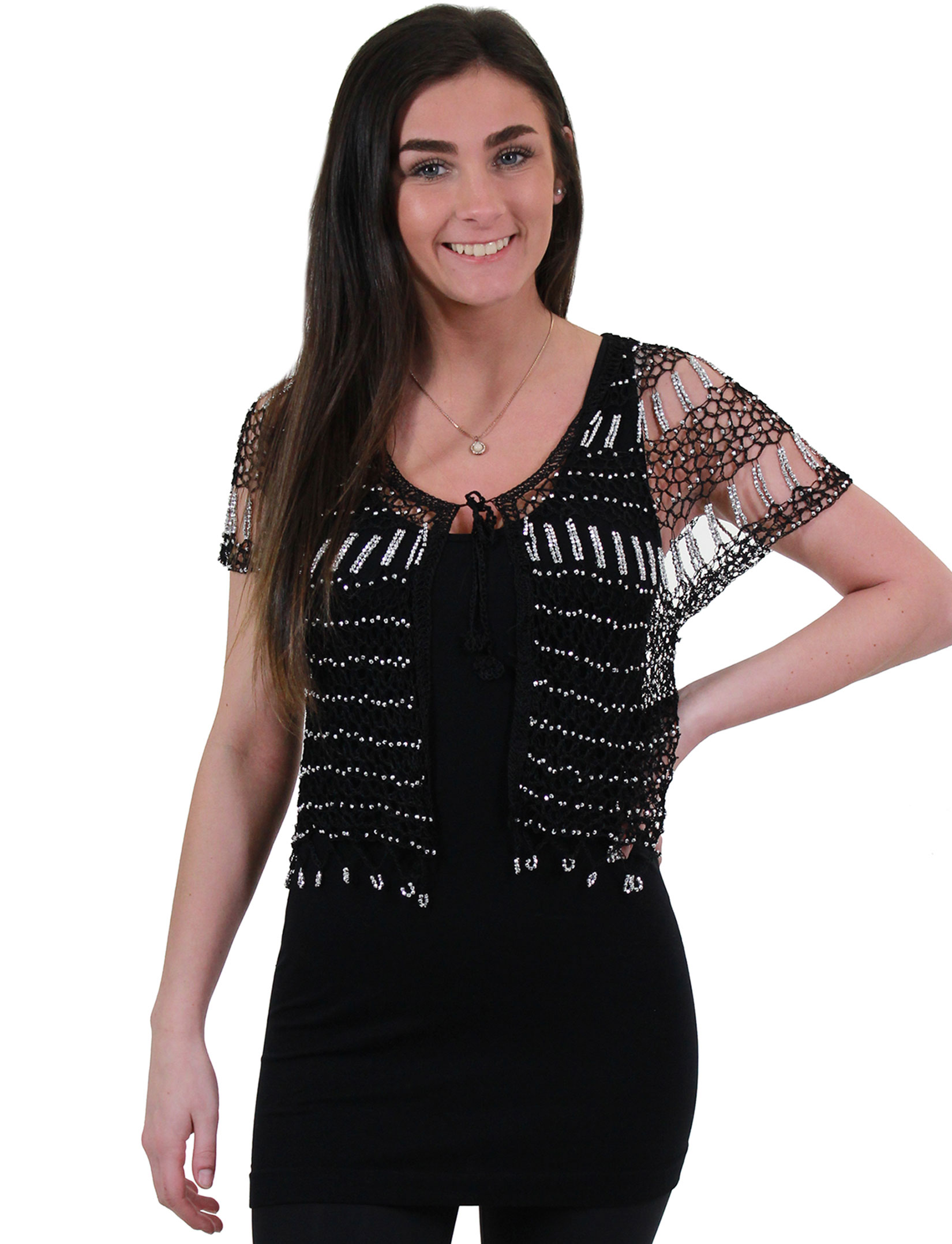 Shanghai Beaded Fishnet Vest