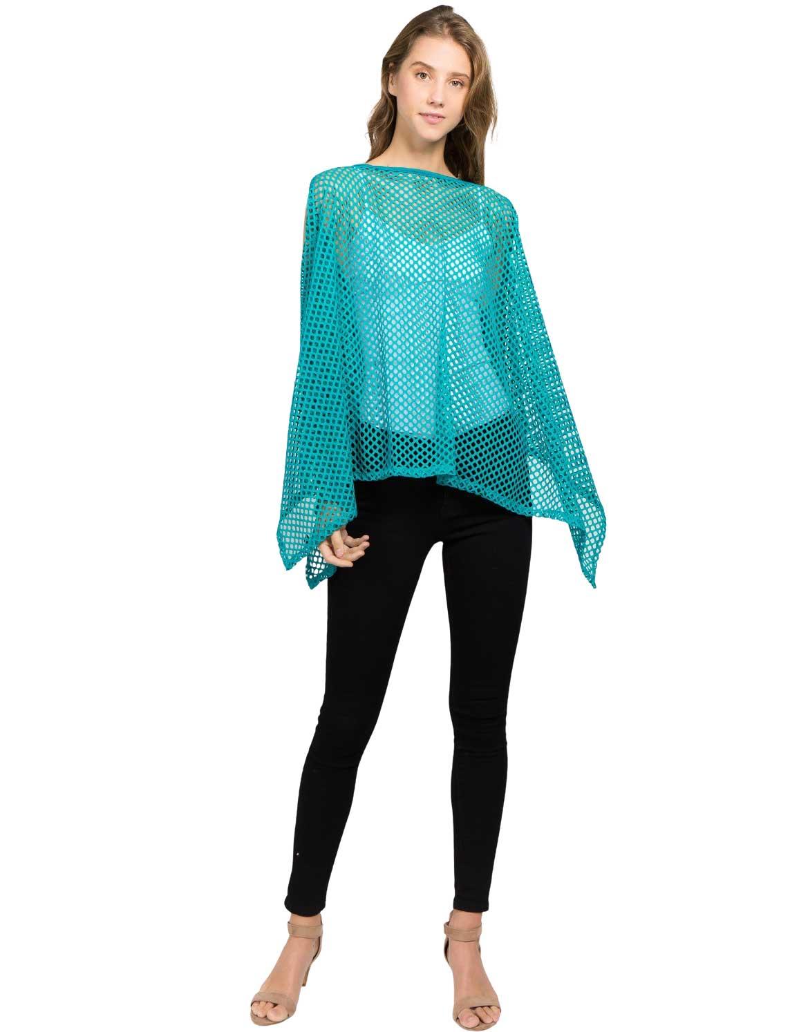 wholesale Poncho - Mesh Cold Shoulder 8631