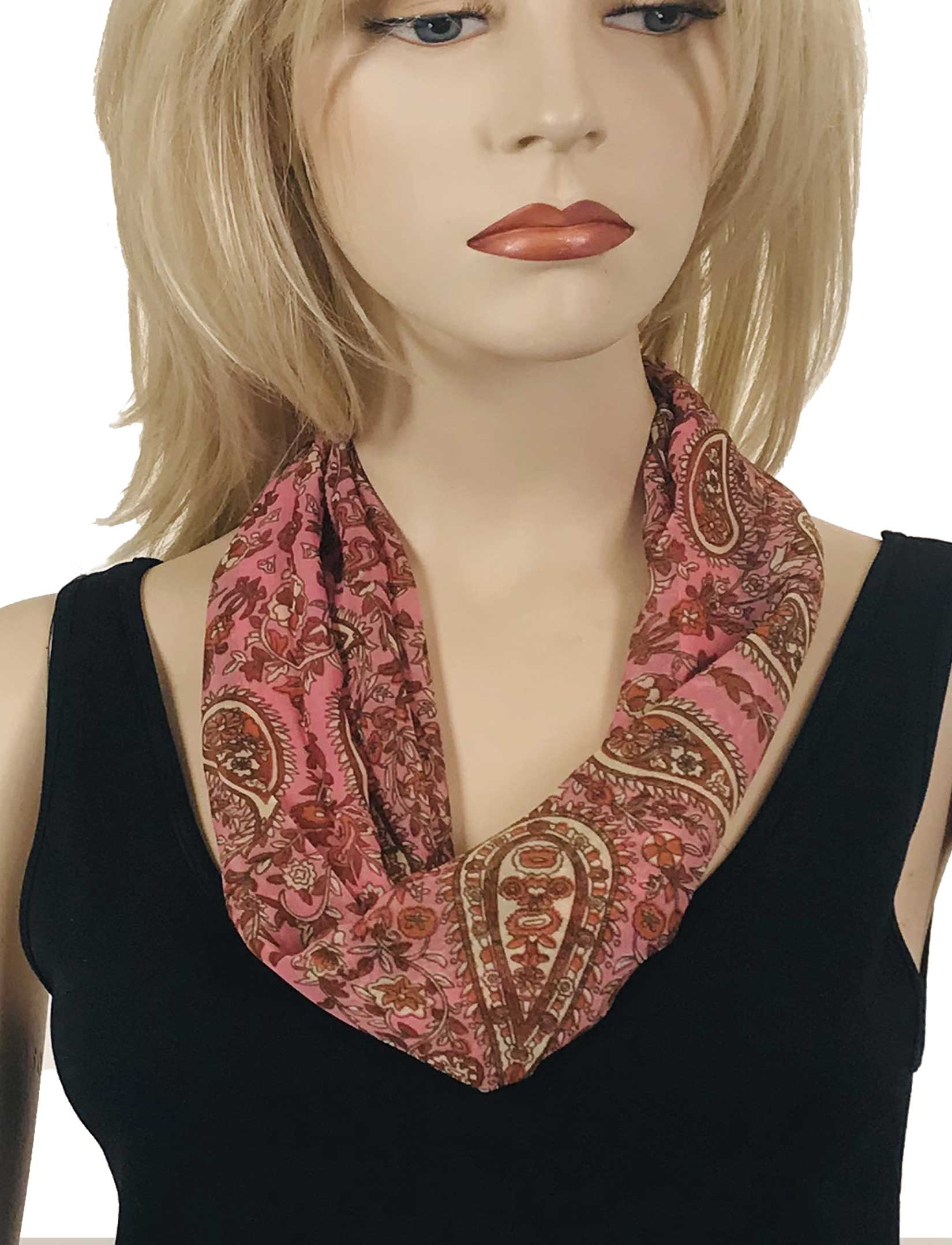 Silky Dress Scarves with Magnetic Clasp