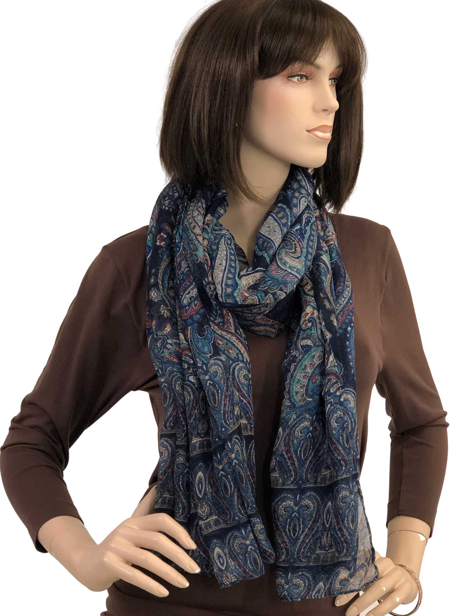 wholesale Oblong Scarves - Paisley Print 9171 & 9172