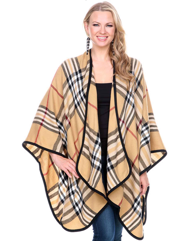 wholesale Winter Ruana - Plaids, Houndstooth, & Tweeds
