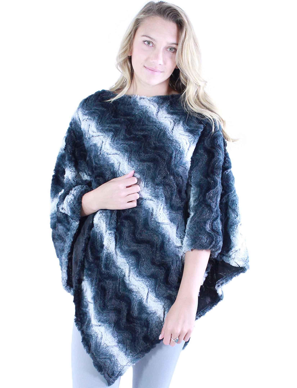 wholesale Winter Ponchos - Faux Fur Designs 2970