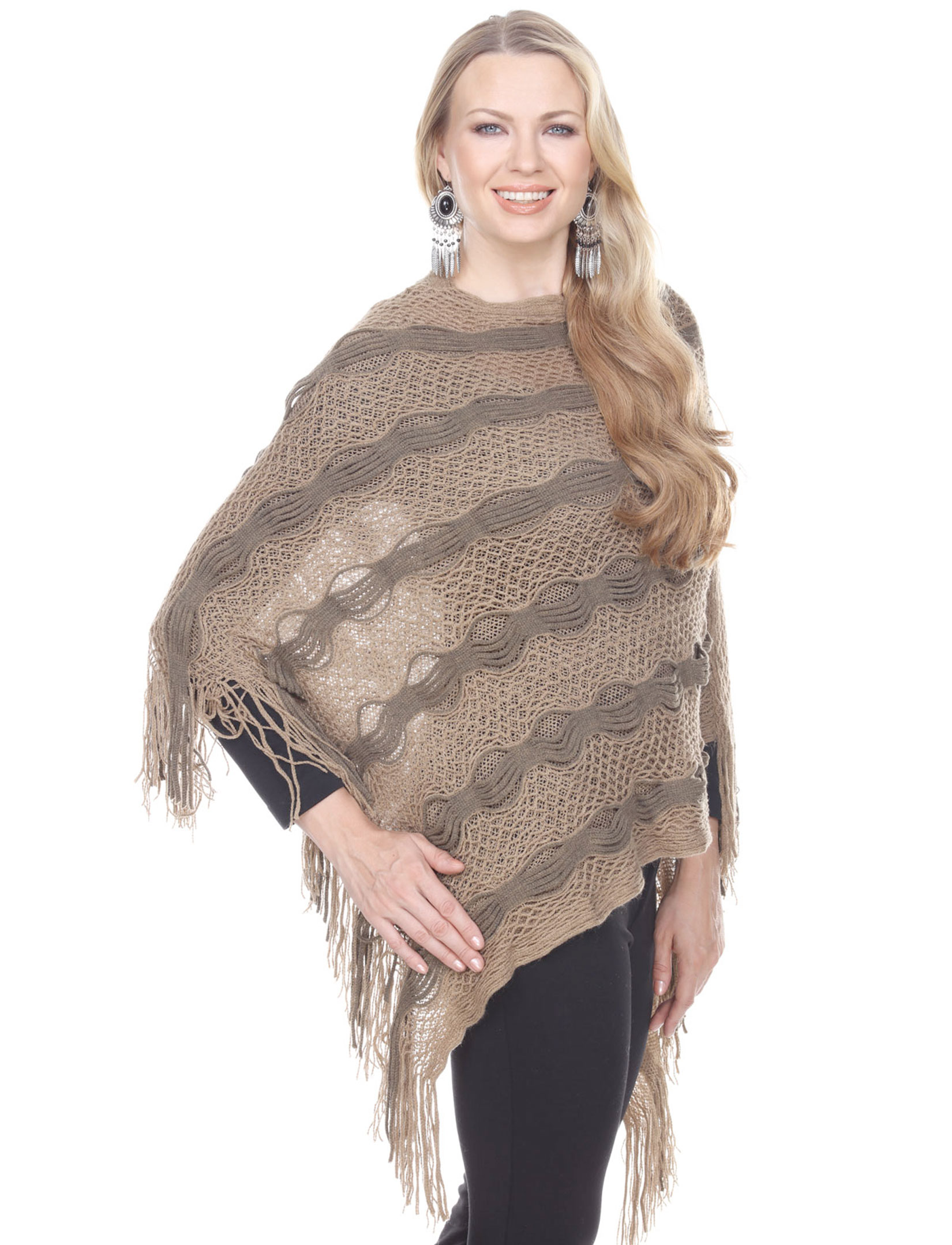 wholesale Winter Ponchos - Solid and Multi Color