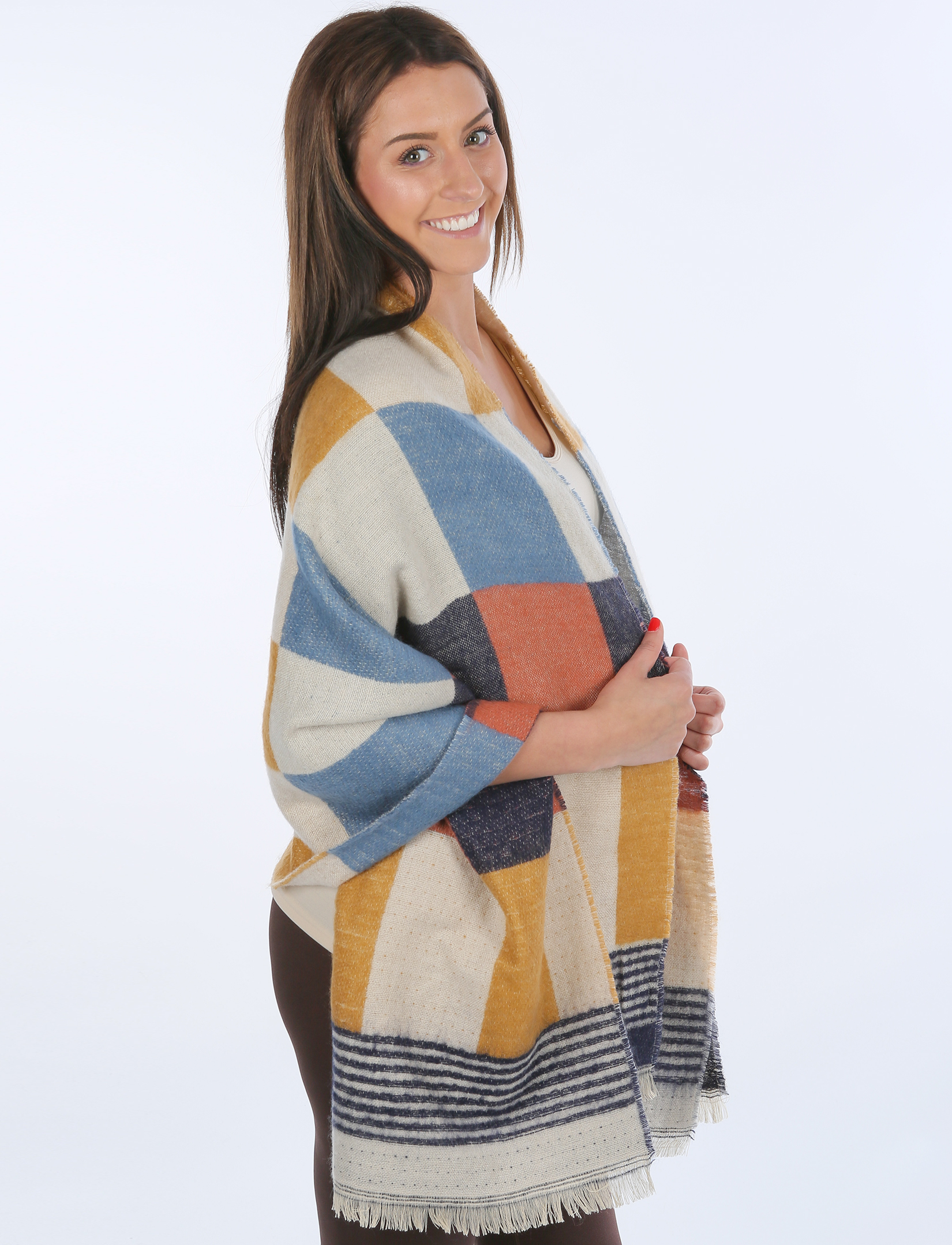 wholesale Winter Shawls - Plaids, Checks, & Herringbone