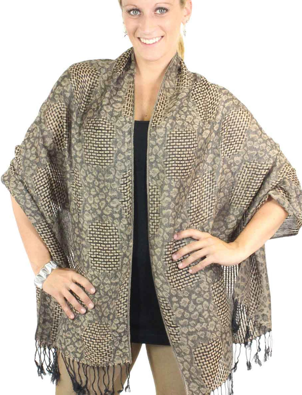 Shawls - Woven with Animal Print 3505
