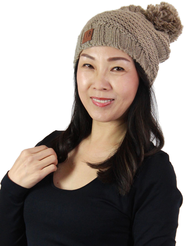 wholesale Hats - Stripe Knit with Pom Pom 9180
