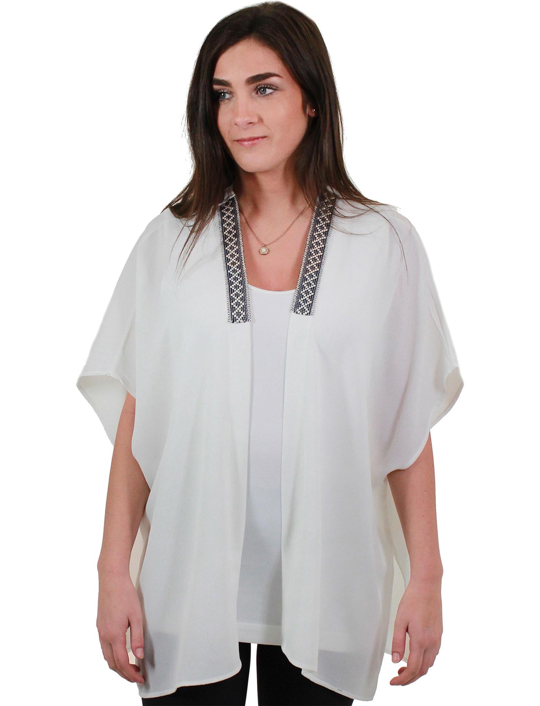 wholesale Crepe Kimono - Collar Accent 1213