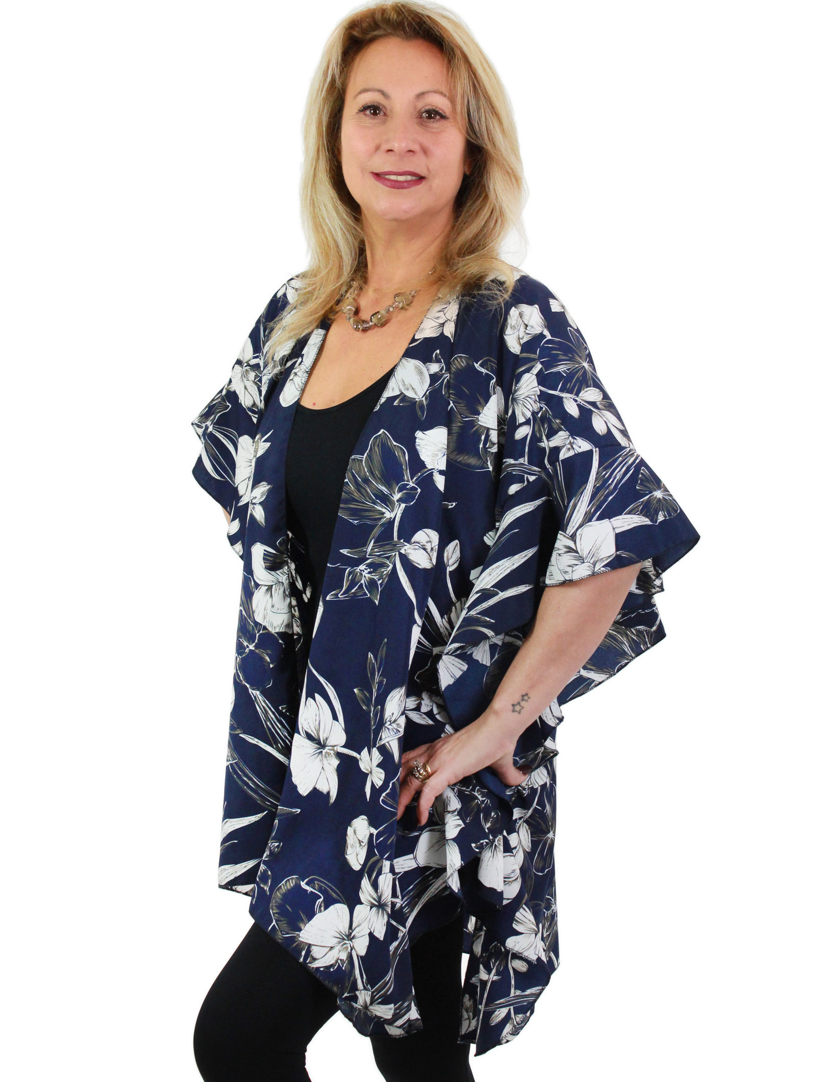 wholesale Ruffled Brushed Satin Kimonos 1262 1263